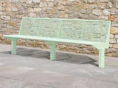 Panchina in acciaio inox con schienaleSIARDO 50 R | Panchina in metallo - BENKERT BÄNKE