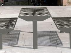 Tavolo per spazi pubblici rettangolare in acciaio inoxSIARDO 50 R | Tavolo per spazi pubblici - BENKERT BÄNKE