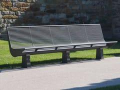Panchina in acciaio inox con schienaleSIARDO 60 R | Panchina con schienale - BENKERT BÄNKE