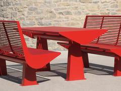 Tavolo per spazi pubblici rettangolare in acciaio inoxSIARDO 60 R | Tavolo per spazi pubblici - BENKERT BÄNKE