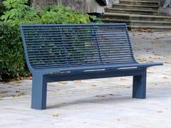Panchina in acciaio inox con schienaleSIARDO 70 R | Panchina con schienale - BENKERT BÄNKE