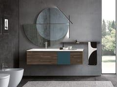 Mobile lavabo sospeso con specchioSIDE 02 - ARCHEDA
