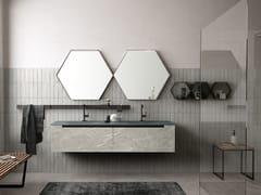 Mobile lavabo sospeso con cassetti con specchioSIDE 07 - ARCHEDA