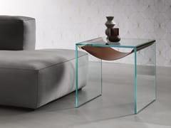 Tavolino di servizio quadrato in vetro AMACA | Tavolino di servizio - Amaca