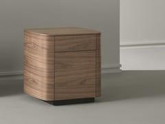 Comodino rettangolare in legno con cassetti SIDE | Comodino in legno - Sideview