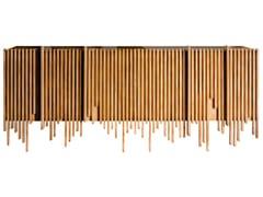 Madia sospesa in legno con ante a battenteWAVE   Madia - LOLA GLAMOUR