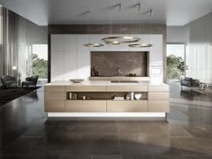 Cucina ad isola con anta in metallo oro bronzatoSieMatic PURE - SE 3003 R - SIEMATIC MÖBELWERKE