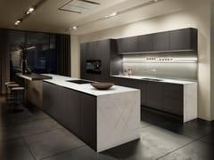 Cucina ad isola laccata opaca AntiPrint e legnoSieMatic PURE - SE + S2 - SIEMATIC MÖBELWERKE