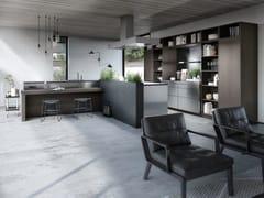 Cucina senza maniglie in legno e acciaoSieMatic URBAN - SE 4004 E / SE 9009 ES - SIEMATIC MÖBELWERKE