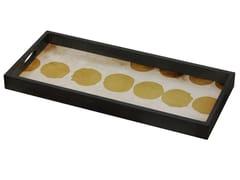 Vassoio rettangolare in vetro SIENNA DOTS - Translucent Silhouettes