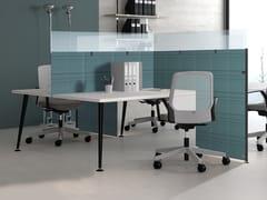 Pannello divisorio da scrivania fonoassorbente in materiale riciclatoSILENTPURE | Pannello divisorio da scrivania - ELITABLE