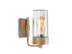Lampada a parete in ottoneSILINDAR | Lampada da parete per esterno a LED - MORETTI LUCE