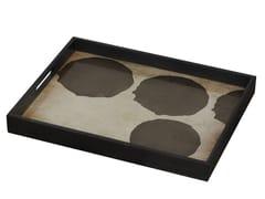 Vassoio rettangolare in vetro SILVER DOTS - Translucent Silhouettes