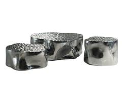 Tavolino basso in alluminioSILVER TREE BOSSA | Tavolino - ROCHE BOBOIS