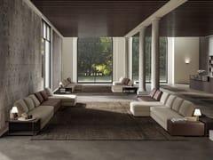Divano componibile in tessuto con chaise longue SIMON SLIM   Divano con chaise longue - Autumn 2017