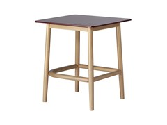 Tavolino quadrato in legno SINGLE CURVE LOW TABLE | Tavolino in legno - Single Curve