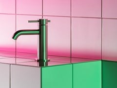 Miscelatore per lavabo da piano monocomando in acciaio inoxHELM ZHE687 - ZUCCHETTI RUBINETTERIA