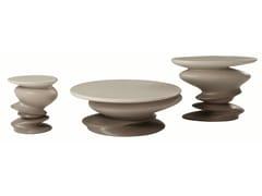 Tavolino rotondo in resinaSISMIC - ROCHE BOBOIS