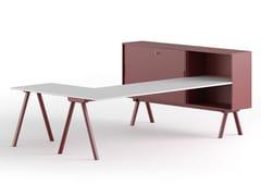 Scrivania ad angolo in legno con scaffale integratoSISTEMA 2027 L - GABER
