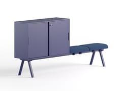 Mobile ufficio basso in legno con ante scorrevoliSISTEMA 2027 | Mobile ufficio - GABER