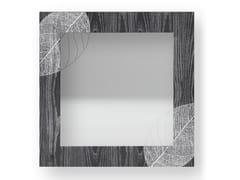 Specchio quadrato da parete con cornice SKELETON COLORS | Specchio - DOLCEVITA NATURE