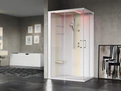 Box doccia angolare multifunzione con porta scorrevole SKILL A120X100 - Skill