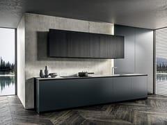 Cucina lineare in rovere e metalloSKILL FRAME - MODULNOVA