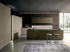 Cucina con isola in milltech e piano in laminatoSKILL   Cucina con isola - MODULNOVA