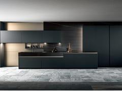 Cucina lineare in gres porcellanato senza maniglieSKILL   Cucina lineare - MODULNOVA