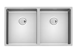 Lavello a 2 vasche da incasso in acciaio inoxSKIN 2V R12 FT - FOSTER