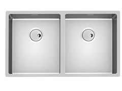 Lavello a 2 vasche sottotop in acciaio inoxSKIN 2V R12 S/TOP - FOSTER