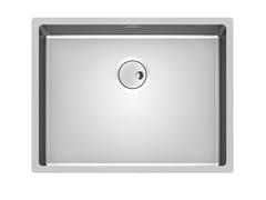 Lavello a una vasca sottotop in acciaio inoxSKIN 53X40 R12 S/TOP - FOSTER
