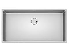 Lavello a una vasca sottotop in acciaio inoxSKIN 80X40 R12 S/TOP - FOSTER