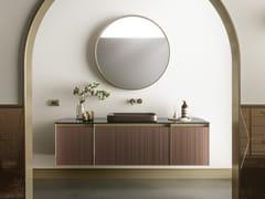 Mobile bagno componibile in cristallo acidato verniciato+SKIN | Mobile lavabo in cristallo - ARTELINEA