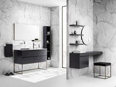 Mobile lavabo da terra con lavabo integratoSKY 04 - ARBI ARREDOBAGNO