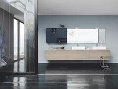 Mobile lavabo sospeso con cassetti SKY 181 - Sky
