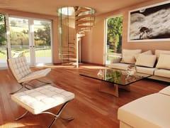Scala a chiocciola in legno e vetroSKY SCREW WOOD | Scala a chiocciola in legno - SILLER TREPPEN