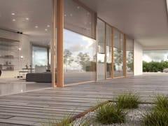 Porta-finestra alzante scorrevole con doppio vetro in legno SKYLINE SLIDING LEGNO - Skyline System