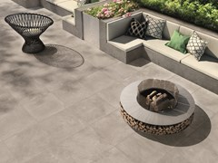 CERAMICHE KEOPE, SKYWALL GREY Pavimento/rivestimento in gres porcellanato effetto cemento