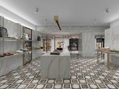 APAVISA, SLABS - BORGHINI DECOR Pavimento/rivestimento in gres porcellanato effetto marmo