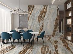 APAVISA, SLABS - OCEAN BLUE Pavimento/rivestimento in gres porcellanato effetto marmo