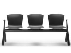 Seduta su barra in polipropilene con braccioliSLAM | Seduta su barra con braccioli - SELLEX