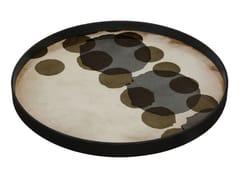 Vassoio rotondo in vetro SLATE LAYERED DOTS - Translucent Silhouettes
