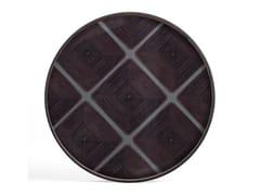 Vassoio rotondo in legno e vetroSLATE LINEAR SQUARES - ROUND XL - ETHNICRAFT