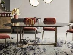 Tavolo con base in metallo e piano in ceramicaSLICE - APP DESIGN