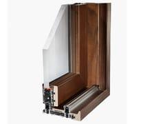 Finestra scorrevole in alluminio e legnoSLIDE WOOD 160 - FRESIA ALLUMINIO