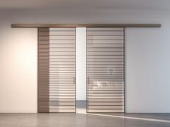 Porta scorrevole in alluminio e vetroRI-TRAIT 8B   Porta scorrevole - ALBED