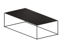 Tavolino basso rettangolare in lamieraSLIM IRONY | Tavolino - ZEUS