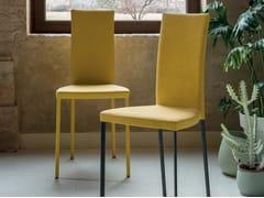 Sedia da ristorante in pelle SLIM | Sedia in pelle -