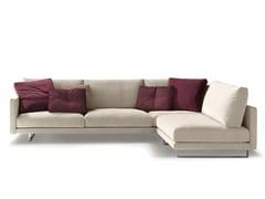Divano componibile in tessuto con chaise longueSLIM NEW | Divano componibile - VALENTINI